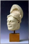 MARBLE HEAD OF A WARRIOR
